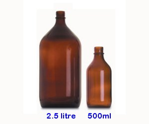 1 litre amber glass Winchester